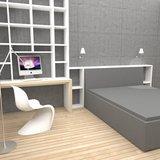 Istabas mēbeļu izvietojuma risinājums